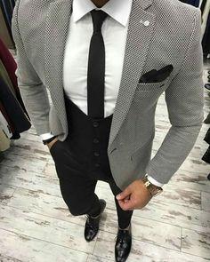 Likes, 41 Comments - Men Dress Suits For Men, Suit And Tie, Men Dress, Indian Men Fashion, Mens Fashion Suits, Mens Suits, Stylish Men, Men Casual, Blazer Outfits Men