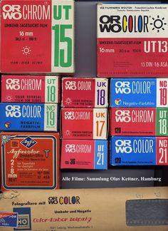 En los años 80 llegó a España la marca ORWO oriunda de Alemania Oriental. En un principio como película de diapositivas que incluía el revelado en el precio. Cada caja llevaba un sobre prefranqueado para enviar el carrete expuesto a su laboratorio en Jaraiz de la Vera (Cáceres) Posteriormente esta marca sólo se pueo encontrar como película negativa.