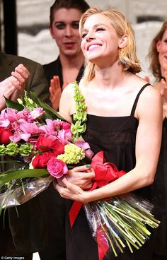 Take a bow: Sienna Miller's debut performance on Broadway's Cabaret on Tuesday night was met by rapturous applause