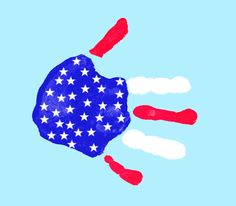 American Flag Handprint ~ A great 4th of July craft for kids ~