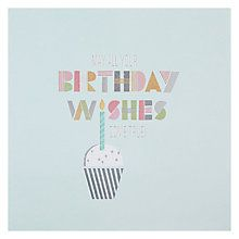 Buy Hotchpotch Wishes Come True Birthday Card Online at johnlewis.com