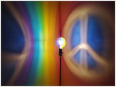 Rainbow Peace Sign Painted MoodLight Bulb 4 Holiday Gift Party Night Light Peace on Earth Stocking Stuffer Hippie Mood Lighting Kids Lamp Low Energy Light Bulbs, Mood Light, Dorm Lighting, Painted Light Bulbs, Kids Lamps, White Lamp Shade, Painted Signs, Hand Painted, Peace On Earth