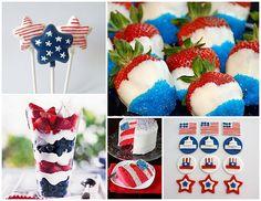 4th of July fun- I love that strawberry idea!!