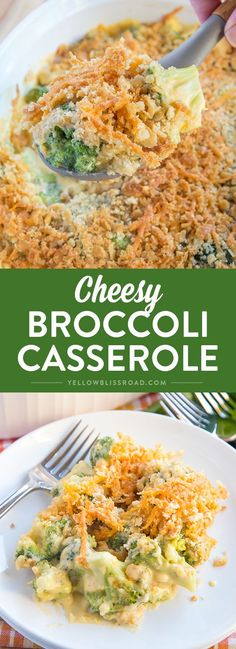 This Cheesy Broccoli Casserole has tender broccoli smothered in a rich and creamy cheddar cheesy sauce and topped with crushed butter crackers. This is one Thanksgiving side dish that is sure to please them all!