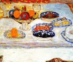 Bowls and Plates of Fruit Artwork by Pierre Bonnard