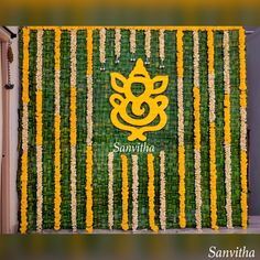 Pellikuthuru Ceremony Decor🌿🌼We love using simple things and making them extraordinary! Ganapati installation added a dose of positivity and good vibes to our wedding Decor🌿🌼 Designed and styled by 📞💬 7997458082 Wedding Backdrop Design, Wedding Stage Design, Desi Wedding Decor, Wedding Mandap, Wedding Stage Decorations, Engagement Decorations, Backdrop Decorations, Naming Ceremony Decoration, Marriage Decoration