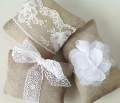 Burlap and lace lavender sachets
