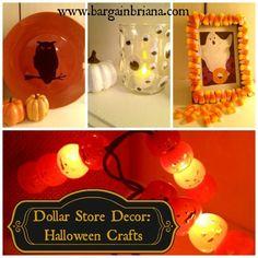 Dollar Store Decor: Halloween Crafts - BargainBriana