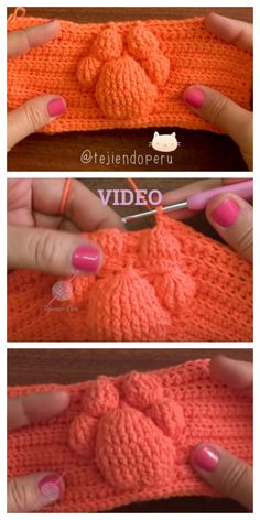 Crochet Cat Paw Prints Blanket Free Pattern-Video You are in the right place about finger knitting Here we offer you the most beautiful pictures. Crotchet Patterns, Loom Patterns, Crochet Blanket Patterns, Crochet Stitches, Knitting Patterns, Cross Stitches, All Free Crochet, Crochet Hats, Crochet Blankets