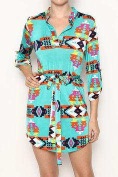 Color Pop Aztec Dress – Moonshine & Lace