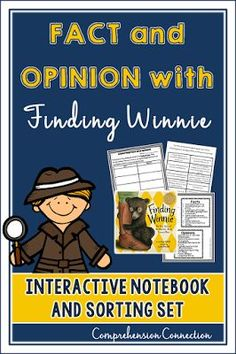 This Fact and Opinion freebie from Comprehension Connection will help you teach using the award winning mentor text, Finding Winnie. Reading Comprehension Activities, Reading Resources, Reading Strategies, Reading Skills, Teaching Reading, Book Activities, Guided Reading, Classroom Activities, Teaching Ideas