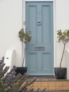 The right shade of blue for the back door