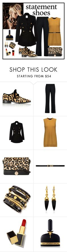 """""""Lanvin Women's Leopard Print Grosgrain-Trimmed Derbys"""" by romaboots-1 ❤ liked on Polyvore featuring Lanvin, Bela, Antonio Berardi, Acler, Theory, Dune, Yves Saint Laurent, Ashley Pittman, Theodora Warre and Tom Ford"""