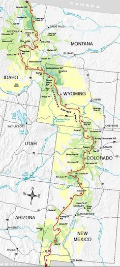 CDT (Continental Divide Trail) Map Jason and I crossed in New Mexico Rv Travel, Adventure Travel, Places To Travel, Places To Go, Thru Hiking, Camping And Hiking, Hiking Trails, Camping Gear, Hiking Trail Maps