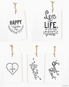 Free Printable Hand Drawn Valentine Tags