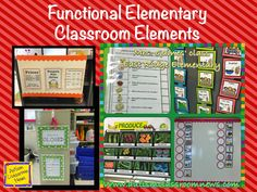 I really love what this teacher has done with her classroom.  She includes functional elements for her special education classroom with a good level of organization.  There are some great ideas for activities in this post as well. Functional Elementary Classroom Elements