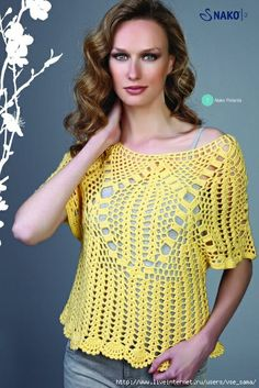 Crochetemoda: Blusas de Crochet IX