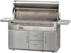 Alfresco 56-Inch ALXE Series 4-Burner Freestanding Gas Grill with Infrared Rotisserie and Sear Zone Burner on Refrigerated Cart - ALXE-56BFGR