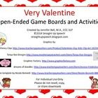 Very Valentine Open-Ended Game Boards and Activities for Speech and Language