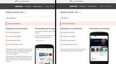 <b>DOBBEL STRYK:</b> Både DNB og Kompletts nettsider får stryk i Googles test for om nettsteder er mobilvennlige. Fra 21. april vil Google la denne testen påvirke hvor høyt nettsteder rangerer når du gjør søk fra en mobiltelefon.