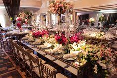 Mesa dos convidados - Casamento Romântico
