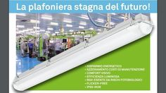 ANLIGHT 3001.836 MARIO LED HE PLAFONIERA STAGNA LED 83 WATT 6000K IP 66 immagini