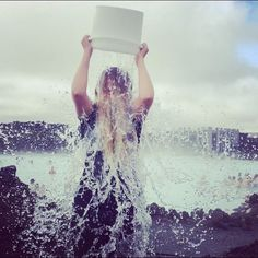 Blue Lagoon staff member Heidi was challenged to dump a bucket of ice water over her head to raise awareness for ALS, which she accepted!  See the video: http://youtu.be/2XqNa3u_Z2I  #BlueLagoon #Iceland #IceBucketChallenge #StrikeOutALS