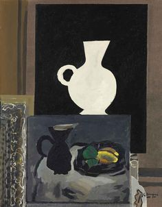 blastedheath:  Georges Braque (French, 1882-1963), Atelier I, 1949. Oil and sand on canvas, 36¼ x 285/8 in. (92 x 72.7cm.)