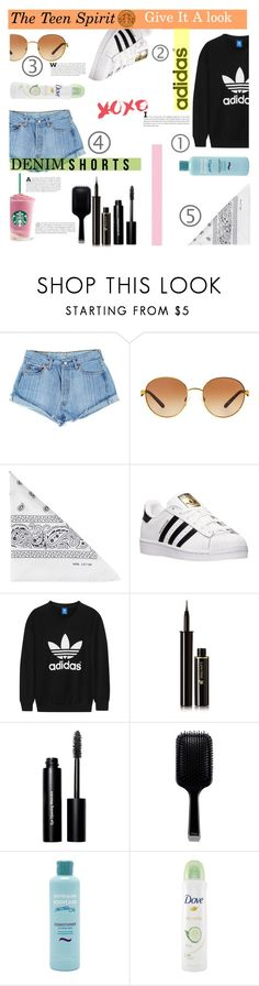 """""""Smells Like Teen Spirit"""" by lifeisworthlivingagain ❤ liked on Polyvore featuring Michael Kors, NLY Accessories, adidas, adidas Originals, Lancôme, Bobbi Brown Cosmetics, GHD, Australian Bodycare and Dove"""