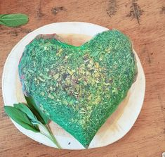 Green heart shaped dried aromatic plants pillow LARGE / Decorative love pillow /Organic herbs heart shapedcushion/ Aromatherapy gift for her