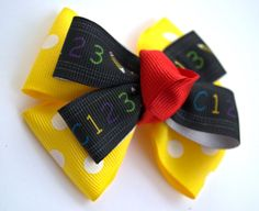 Back to School hair bow school hair bows by marissaLboutique, $3.75