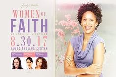 Women of Faith Flyer Template by SeraphimChris on @creativemarket