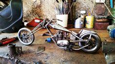 Recicled metal Digger Bike