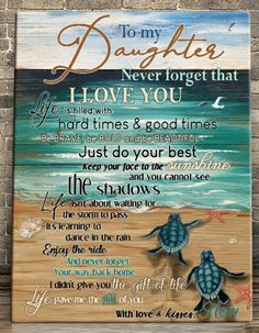 Be Bold, Do Your Best, Never Forget, Hard Times, Daughter Love, I Love You, Brave, Girls, Tough Times