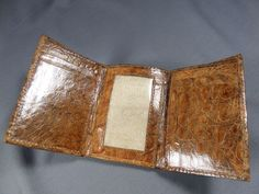 New Handmade Genuine Cognac Alligator-Crocodile  Premium Skin Trifold  Wallet 6