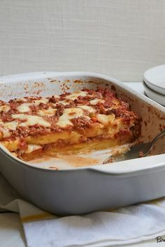 5 Recipes That Will Change the Way You Think About Casseroles via @PureWow  Polenta Ragu Casserole