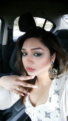 Makeup & earrings