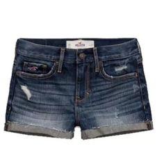New Hollister high rise shorts destroyed dark wish New with tag! Hollister Shorts Jean Shorts