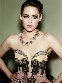 Kristen Stewart in a stunning corset dress