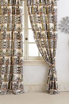 Jacketed Spines Curtain - anthropologie.com