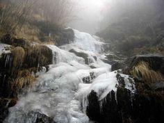 Frozen waterfall in Sikkim