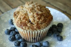 The Farmer's Wife: Jumbo Blueberry Muffins