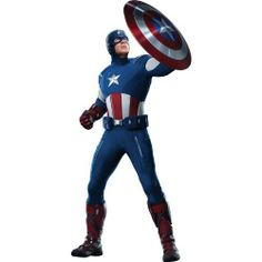 "24"" Captain America #4 Avengers ... Wall Graphic Decal Sticker Home Kids Game Room Decor NEW !! by Stickit Graphix. $34.99. Brand new. Only the best vinyl & eco-sol ink used.. View all the wall graphics by clicking on our name @ the top of the page.. Easy to install...just peel & stick. Made of durable vinyl and is fade resistant. Designed for clean, dry, flat wall surfaces. Safe for walls. The special low-tack adhesive does not leave any residue and will not pul..."