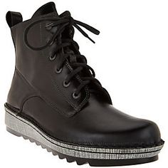 Naot Footwear Leather Lace-up Boots - Gazania