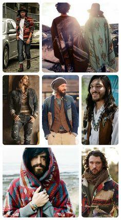 Men's Bohemian Fashion for Autumn  {men's boho fashion}