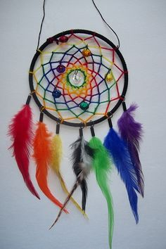 Rainbow Dream Catcher #dreamcatcher