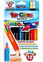 Toy colour ξυλομπογιές 12 χρώματα με ξύστρα