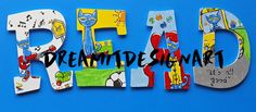 Pete the Cat READ Wooden Wall Letters  $35 DreamItDesignArt