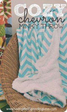 Trying to stay warm this winter? This soft & stylish throw is easy enough for beginners, takes less than an hour to make, and so comfy and soft that each member of your family will want their very own!