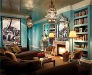 blue moroccanliving rooms - Bing Images